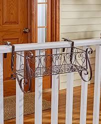 Fancy Metal Railing Planters Or Coco Liners Balcony Rail Flower Box Porch Fence