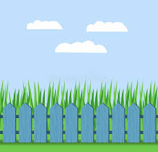 Illustration Of Grass And Fence On A Background Of Blue Sky With Clouds Stock Vector Illustration Of Blades Country 70850221