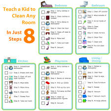 Teach A Kid To Clean Any Room Just 8 Steps The Trip Clip Blog Make Any List Then