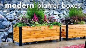 diy modern raised planter box how to