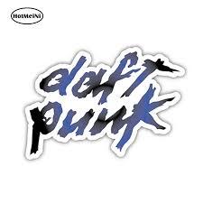 Hotmeini 12cm X 9 1cm Dj Daft Punk Sticker Decal Electro House Techno Dance Edm Vinyl Door Window Bumper Car Styling Car Stickers Aliexpress