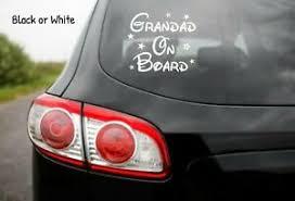 Grandad On Board Disney Car Window Glass Sticker Vinyl Decal Child Van Sign Ebay