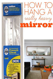 hanging large mirror how to hang