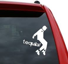 Amazon Com Black Heart Decals More Peewee Herman Tequila Vinyl Decal Sticker Color White 5 Tall Automotive