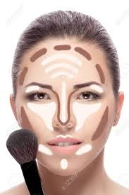contouring make up woman face contour