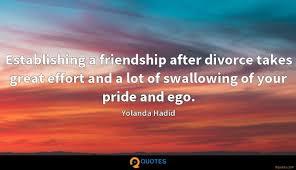 establishing a friendship after divorce takes great effort and