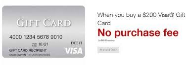 fee free visa gift cards at staples