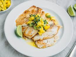 pan fried tilapia with fresh pineapple