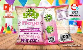 Chips Bags Cumpleanos Mujer Coronavirus Mayo Mega Idea