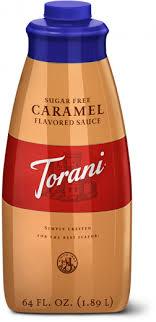 sugar free caramel sauce torani