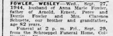 Obituary for WESLEY FOWLER (Aged 82) - Newspapers.com