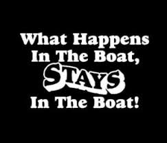 What Happens On The Boat Stay On The Boat Window Decal Sticker Midwest Sticker Shop