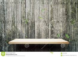 Empty Wooden Shelf Display With Fence Background Stock Image Image Of Furniture Office 106163229