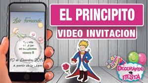 Invitacion En Video De El Principito Para Cumpleanos Infantil Youtube