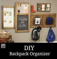 organizing backpack station