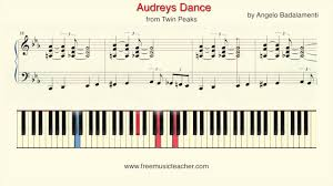 how to play piano twin peaks audreys