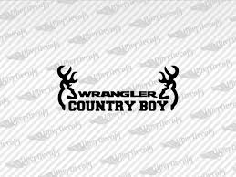 Jeep Wrangler Country Boy Decal Stickers