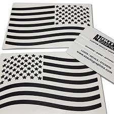 Az Auto Graphics Pair Of Waving Usa American Flag Decal Sticker Die Cut Subdued Jeep Car Truck 4 X 6 5 Matte Black Wantitall
