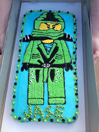 Green ninja Lloyd Ninjago birthday cake