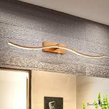 slim wave wall vanity light modern