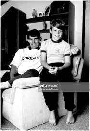Peter Hadfield and son Paul, 11years at their home at 5 Stonebridge... News  Photo - Getty Images