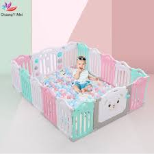 Best Promo 1078e Baby Playpens Fencing For Children Kids Activity Gear Environmental Protection Barrier Game Safety Fence Toy Pool Ball Play Yard Cicig Co
