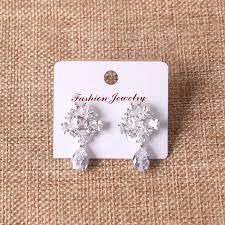 imports zircon earrings korean version