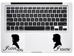 Trackpad Han Solo And Princess Leia Star Wars For Macbook Laptop Car Window Coffee Cup Mug Water Bottle Die Cut Vinyl Decal Sticker Newegg Com