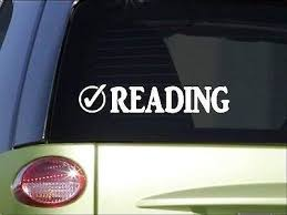 Amazon Com Brandvinyl Reading Check 8 Sticker Decal Book Library Librarian Novel Writer Home Kitchen