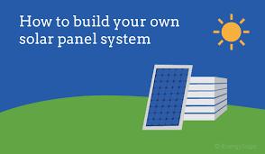 how building solar panels works diy