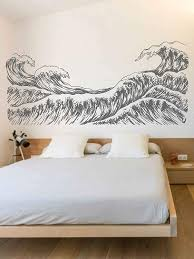 Amazon Com Big Wave Wall Decals Sea Wave Wall Sticker Beach Decor Sea Art Sea Decals For Kids Rooms Wall Graphics For Bedrooms Ik3421 Handmade