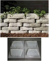 retaining wall block concrete molds