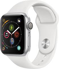 Best Buy: Apple Watch Series 4 (GPS) 40mm Silver Aluminum Case with White  Sport Band Silver Aluminum MU642LL/A