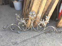 Wrought Iron Gate Topper Ornate Flower For Metal Gate Or Railing Bespoke Gates And Railings