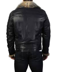 destroyer fur trim leather jacket