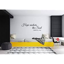Amazon Com Quzi Hope Anchors The Soul Hebrews 6 19 Home Decor Wall Decal Quote Sticker Art Vinyl Bedroom Living Room Decoration Kitchen Dining