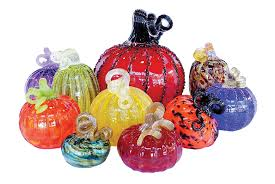 these blown glass pumpkin patches turn