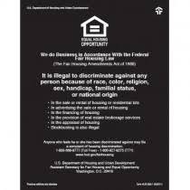 Acrylic Magnetic Equal Housing Opportunity Signs Block And Company