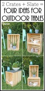 crate table diy 4 ideas for outdoor