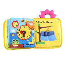 soft touch baby cloth book 3d activity