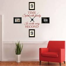 Real Family Clock Wall Decal Clock Stickers For Walls Trendy Wall Designs