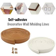 Line Wall Decorative Line Background Self Adhesive Wall Sticker Molding Line For Tv Photo Frame Kindergarten Wall Mural Border Buy At The Price Of 8 30 In Aliexpress Com Imall Com