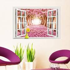 Kaimao Pink Sakura 3d Window Decal Wall Buy Online In Bahamas At Desertcart