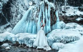 white skirt icicle snow winter