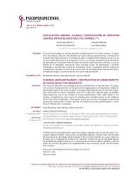 PDF) Vinculación Laboral Flexible: Construcción de Identidad Laboral en  Psicólogos Adultos Jóvenes
