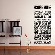 House Rules Vinyl Wall Decal Sticker We Do Art Vinyl Poster Print Sign For Living Dining Room Decals On Luulla