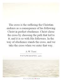 the cross is the suffering the christian endures as a picture