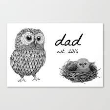 baby shower gift dad mug canvas print