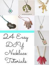 24 easy diy necklace ideas