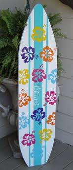 4ft surfboard hawaiian wall art decor